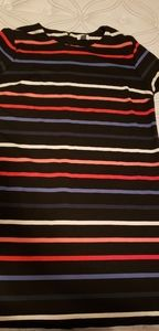 Striped shift dress, colorful